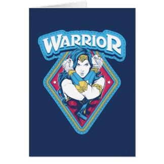 Cartão Gráfico do guerreiro da mulher maravilha