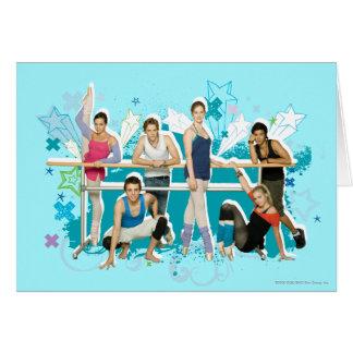 Cartão Gráfico do molde da academia da dança
