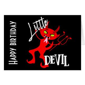 Cartão Gráfico engraçado pequeno bonito do diabo vermelho