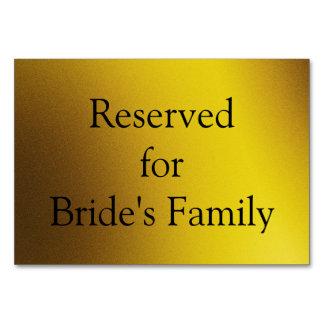 Cartão gráfico reservado da mesa do fundo do ouro
