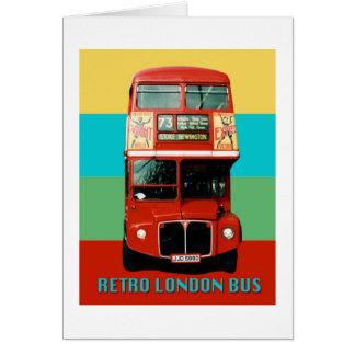 Cartão Gráfico retro do ônibus de Londres