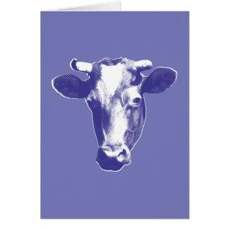 Cartão Gráfico roxo da vaca do pop art