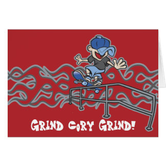 Cartão Gráfico Skateboarding de Kidslide
