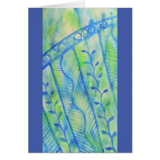 Cartão Gráficos florais da aguarela abstrata