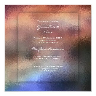 Cartão grama 3-D de Ombre do marinho do marrom do feijão
