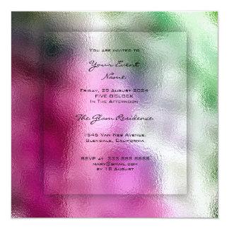 Cartão grama brilhante cor-de-rosa tropical de Ombre das