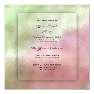 Cartão grama Pastel de Ombre do rosa 3-D das hortaliças