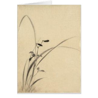 Cartão Gramas, belas artes do japonês de Hokusai