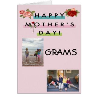 Cartão Gramas felizes do dia das mães!