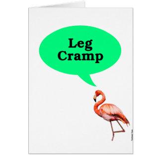 Cartão Grampo de pé do flamingo