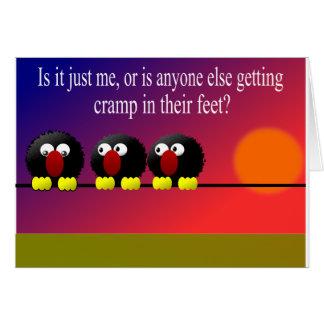 Cartão Grampo nos pés