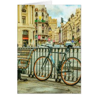 Cartão Gran através da rua, Madrid, espanha