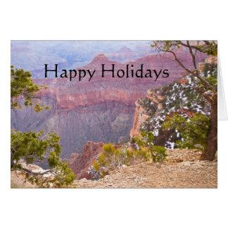 Cartão Grand Canyon sul da borda, boas festas