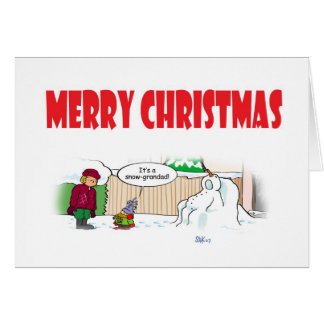 Cartão Grandad da neve
