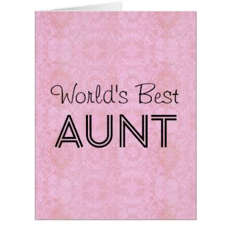 Cartão grande 2 da TIA vintage cor-de-rosa do