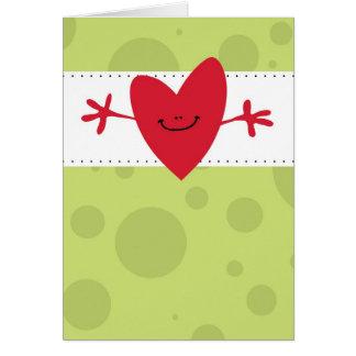 Cartão Grande abraço grande