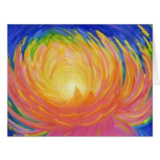 Cartão grande abstrato da flor de Lotus