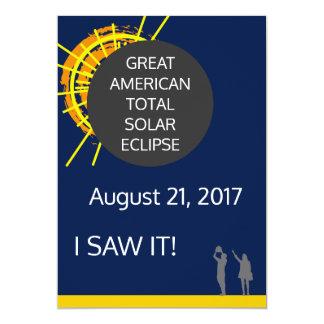 Cartão Grande certificado americano do observador do