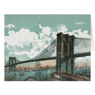 Cartão grande da ponte de Brooklyn