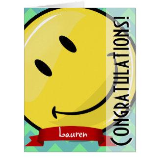 Cartão grande de sorriso gigante de Greeeting dos