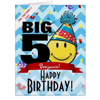 Cartão grande de sorriso gigante do feliz