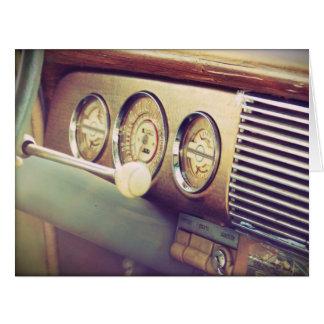 Cartão grande do carro clássico antigo da