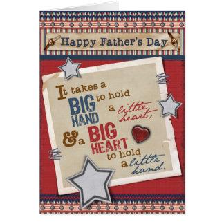 Cartão grande do dia dos pais do coração