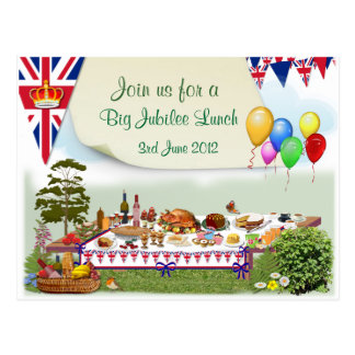Cartão grande do ~ do convite do almoço do jubileu cartao postal