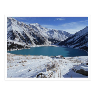 Cartão grande do lago Almaty