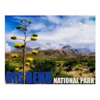 Cartão grande do parque nacional de Texas E.U. da