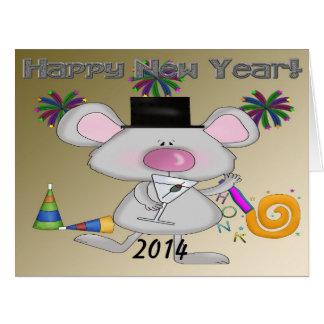 Cartão grande do rato de ano novo