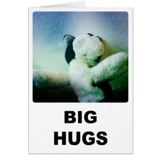 Cartão grande dos abraços