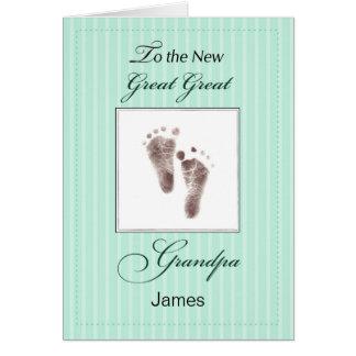 Cartão Grande grande vovô novo do bebê, Foo verde neutro