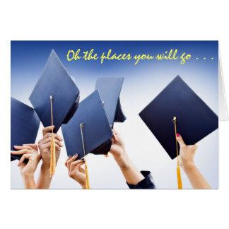 Cartão grande ideal da graduação