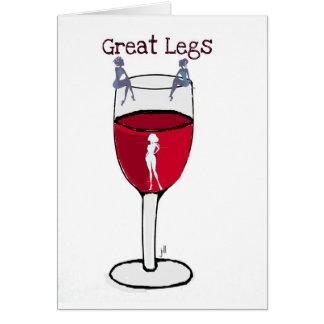 Cartão GRANDE impressão do vinho dos PÉS… por Jill