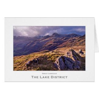 Cartão Grande Langdale, o distrito do lago