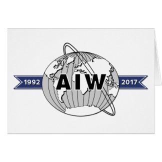 Cartão Grande logotipo 5x7 do aniversário de AIW 25o