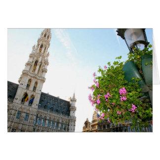 Cartão Grande-Lugar de Bruxelas