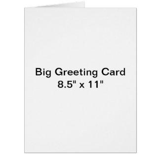 Cartão grande personalizado