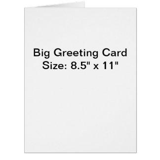 Cartão grande personalizado da foto