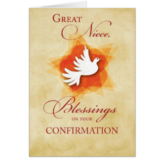 Cartão Grande sobrinha, parabéns da confirmação