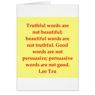 Cartão grandes citações de Tzu do Lao