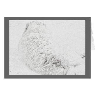Cartão Grandes Pyrenees, cão Series#3 da neve