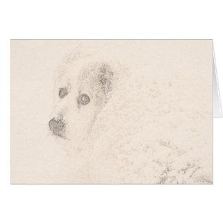 Cartão Grandes Pyrenees, série #4 do cão da neve