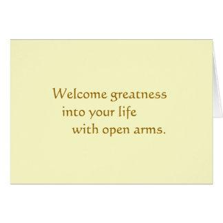 Cartão Grandeza bem-vinda