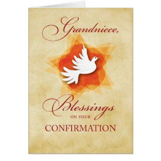 Cartão Grandniece, parabéns da confirmação abençoando