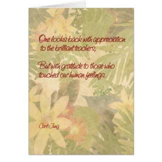 Cartão Gratitude da apreciação do professor