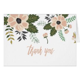 Cartão Gratitude + Flores