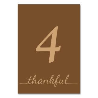 Cartão grato da mesa da acção de graças