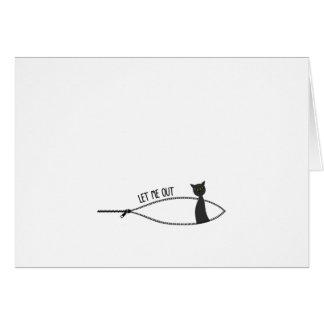 Cartão Gravidez pequena do Dia das Bruxas do gato preto